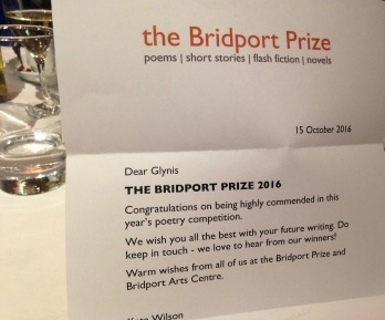 Bridport Prize - Highly Commended 2016